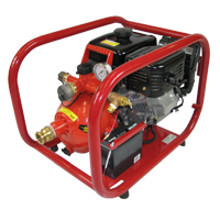 14 hp SUBARU/DAVEY 2-Stage Home Firefighting Pump System<br><i>w/ NH Outlets & Recoil Starter